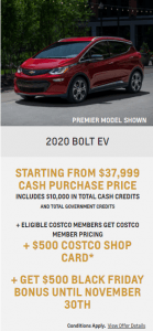 2020 Chevy Bolt Chevrolet Special Offers Incentive Black Friday Jack Carter Northstar GM Creston