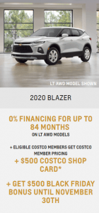 2020 Chevy Blazer Chevrolet Special Offers Incentive Black Friday Jack Carter Northstar GM Creston